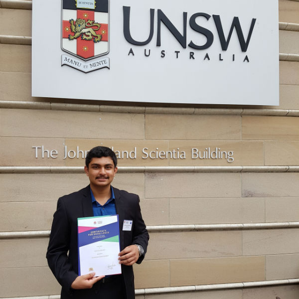 Two Tamil students achieved 1st and 2nd places in the New South Wales state