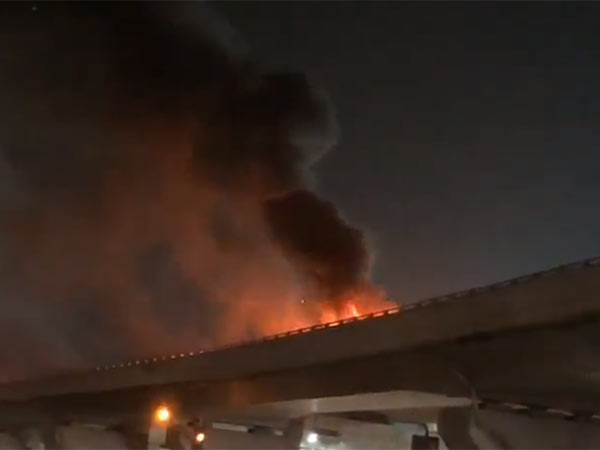 Cart burnt near Chennai airport