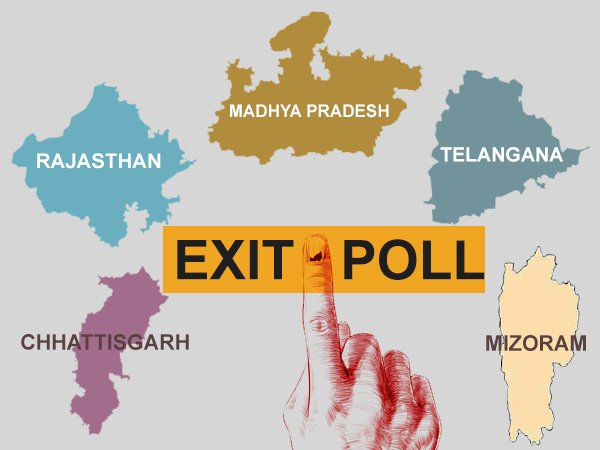 5 state Elections 2018: Exit Poll by tv channels will be out today - Live Updates