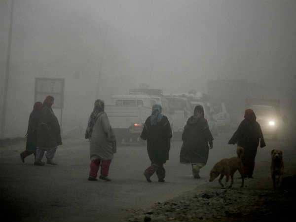 Kashmir valley records temperature in minus