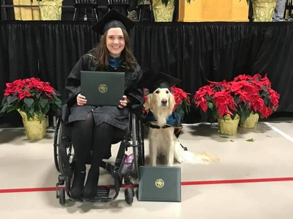 service dog awarded honorary diploma