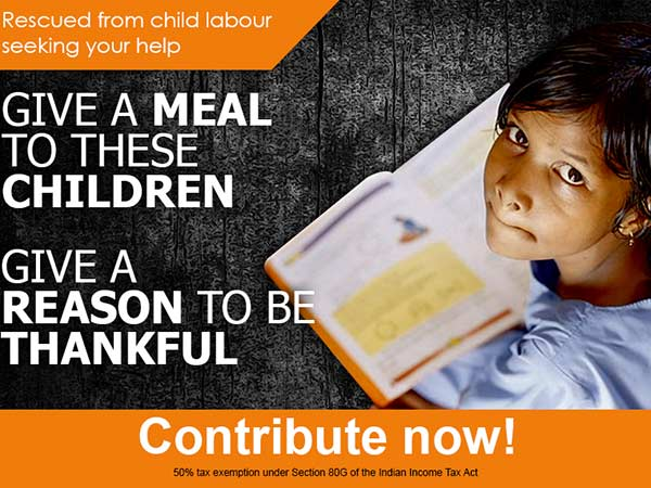 Thanks Giving Mid Day meals scheme helps poor children to have lunch