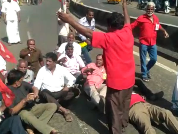 Struggle for the 2nd day. More than 700 people arrested in Coimbatore