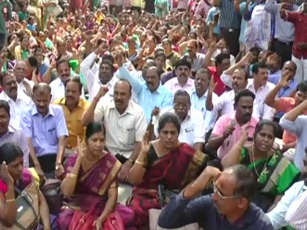 Tamilnadu government will not give salary to the striking employees