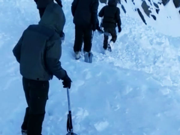 Ladakh avalanche hit: 10 trapped, 1 feared to death, Rescue operation on