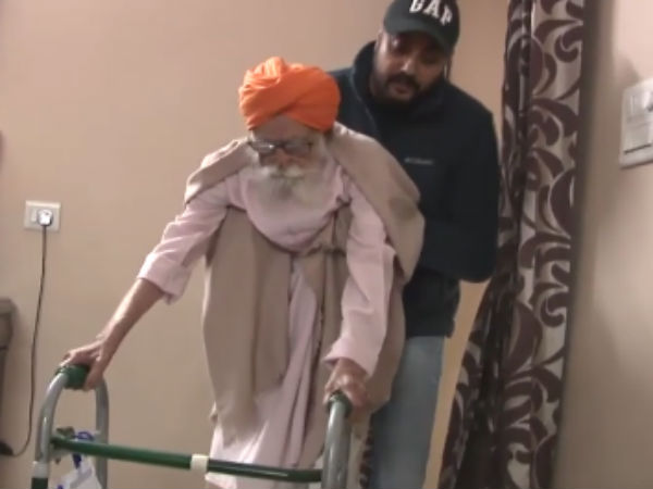 107 year old fit to walk after surgery