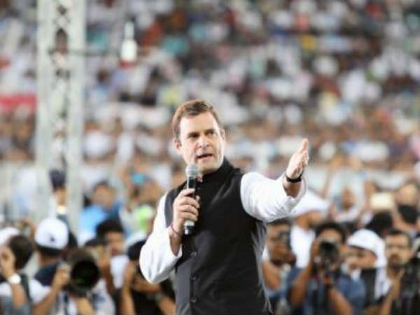 Rahul Gandhi thanked for the workers who work behind Dubai Program