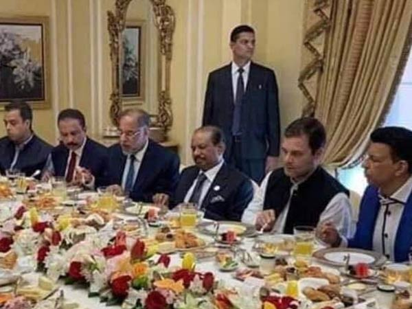 Rahul Gandhi eating food in Dubai, photo goes viral