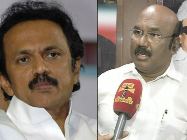 Minister Jayakumar says that Stalin will throw a no ball