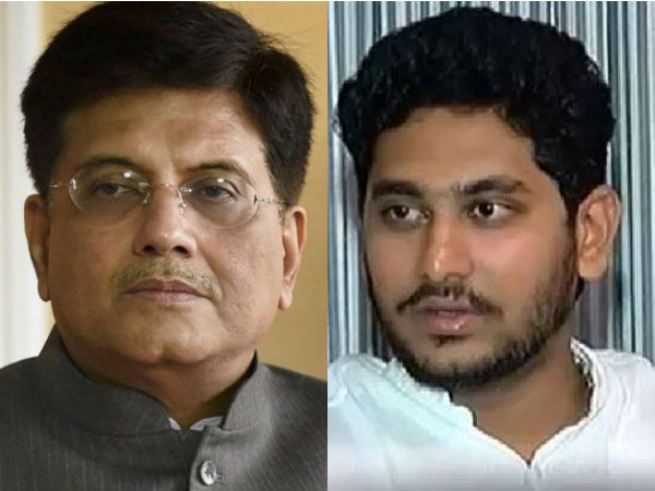 Sasikalas brother diwakarans son jeyanandh met union minister piyush goyal in delhi