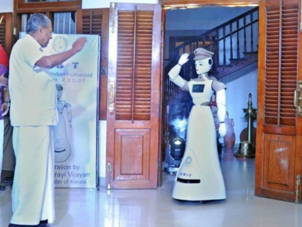 KP-BOT robot Appointment in Kerala police Chief Minister Pinarayi Vijayan Launches