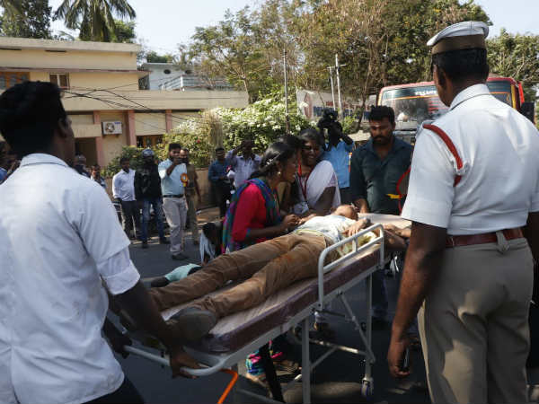 police enacts accident scene in nagercoil