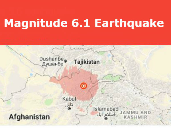 6.1 magnitude earthquake in afghanistan, mild tremors felt In delhi