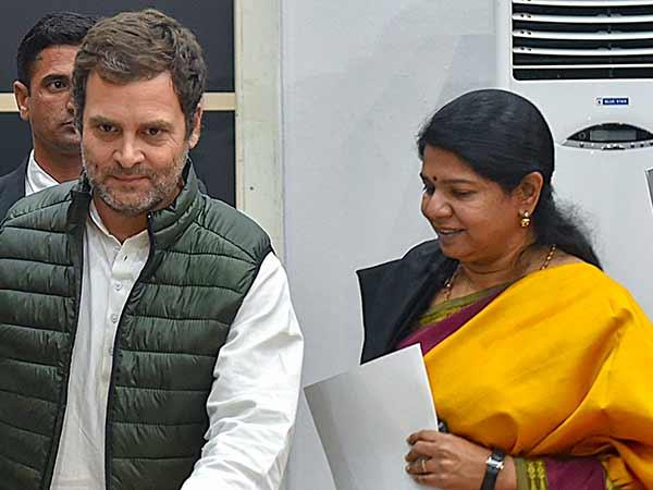 திமுக காங்கிரஸ் டீல் ஓகே?.. ராகுல் காந்தியுடன் கனிமொழி தீவிர ஆலோசனை!