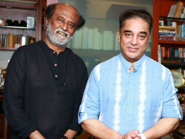 Rajini Kanth meets Kamal Haasan to invite for his daughters wedding