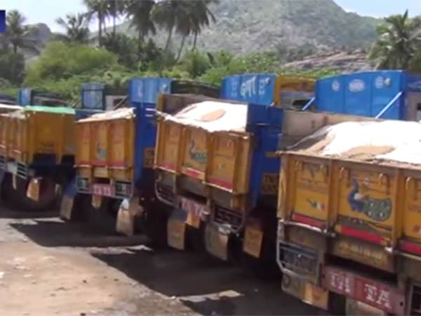 Sand load trucks will stage strike since March 19th in Tamilnadu