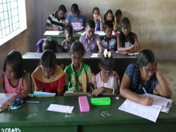 students not offered proper place to sit and write hindi exams