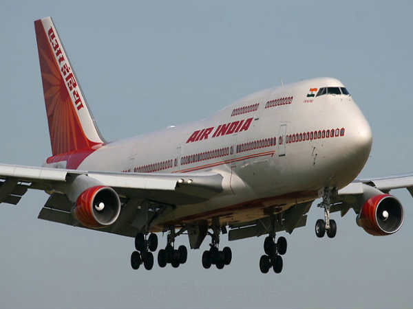 Jaihind slogan on Air India flight. after every announcement
