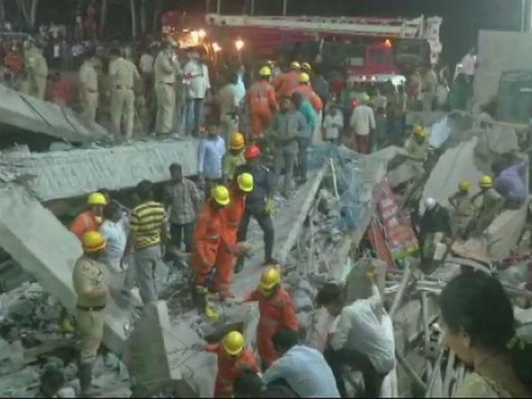 கர்நாடகாவில் கட்டிடம் இடிந்து விபத்து.. சிக்கிய 70 பேர்.. மீட்கப்பட்ட 37 பேர்.. 2 பேர் பலி!