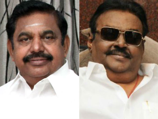 CM Edappadi Palanisamy meet Vijayakant in his home