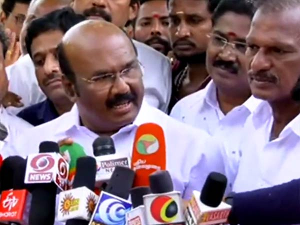 DMK complains against Minister Jayakumar on violation of Election Code of Conduct