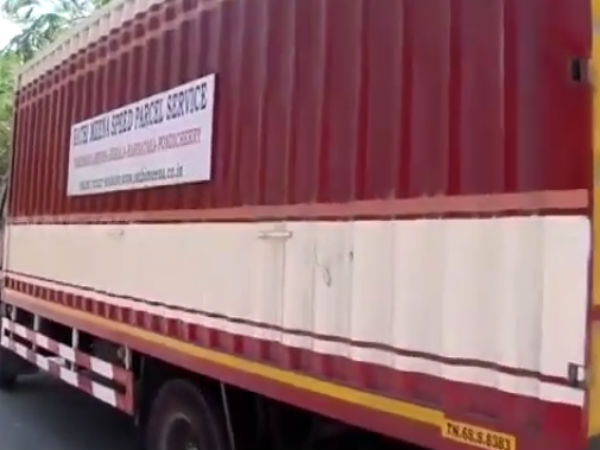 Jewellery loaded truck has been seized in Madurai