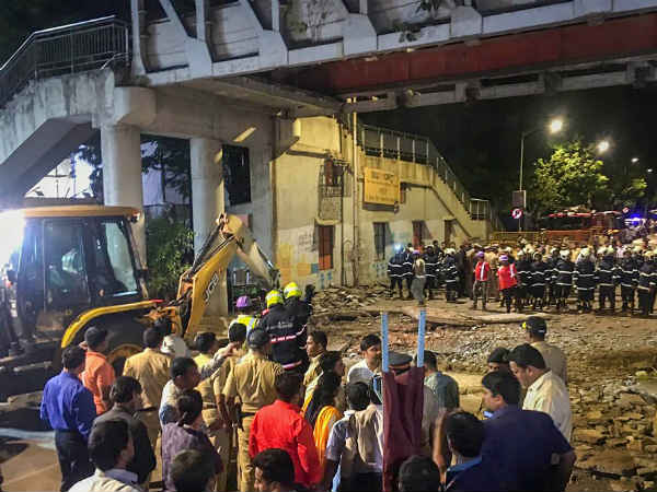 Mumbai: A foot over bridge near Chhatrapati Shivaji Maharaj Terminus (CSMT) railway station has collapsed.