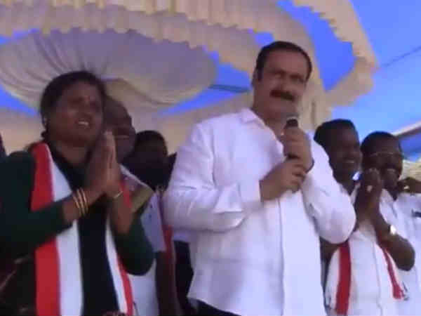PMK MP Anbumani hints a possible booth capture in his campaign - Video