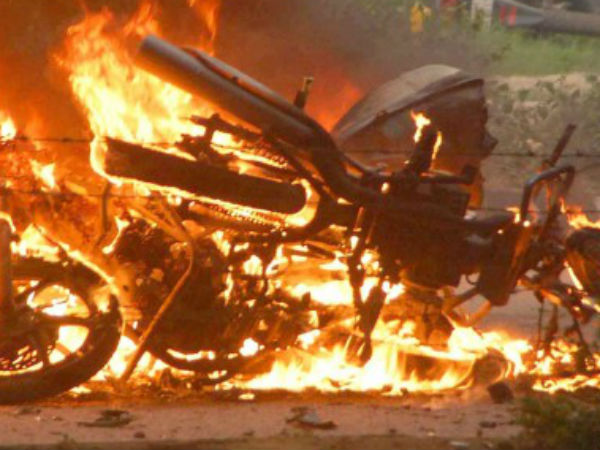 Atrocities in Midnight at salem... Mystery persons burned 8 Motorcycles