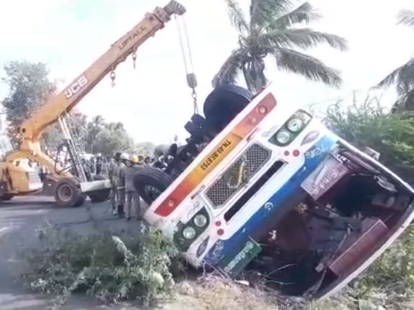 Bus accident near Tanjore kills 2