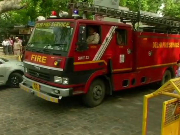 Fire broke out at New Delhi Shastri Bhawan on Tuesday afternoon
