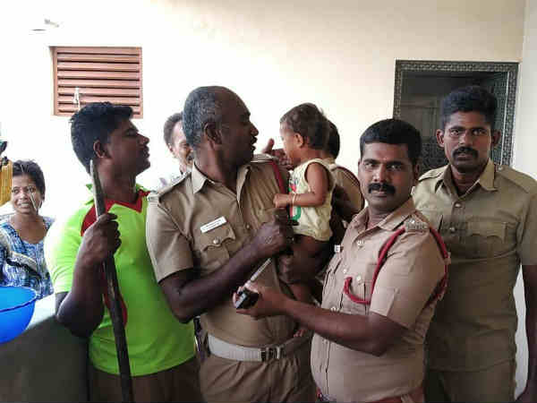 Fire department rescued, Tirupur baby varshini
