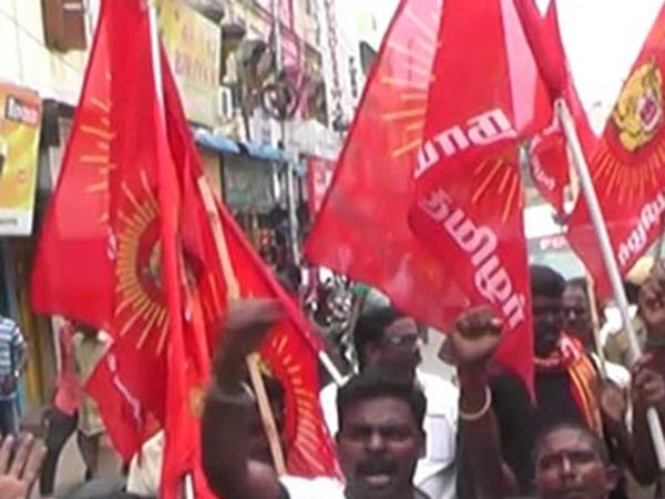 Naam Tamilar party protest in Chennai