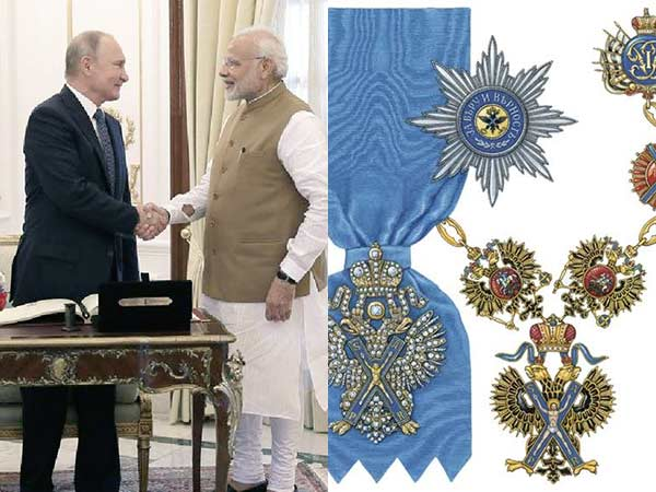 Narendra Modi to be conferred with Russias highest honor