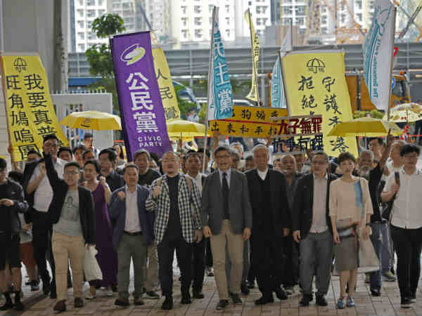 Occupy leaders jailed for 2014 democracy protests.. protest erupted in Hong Kong