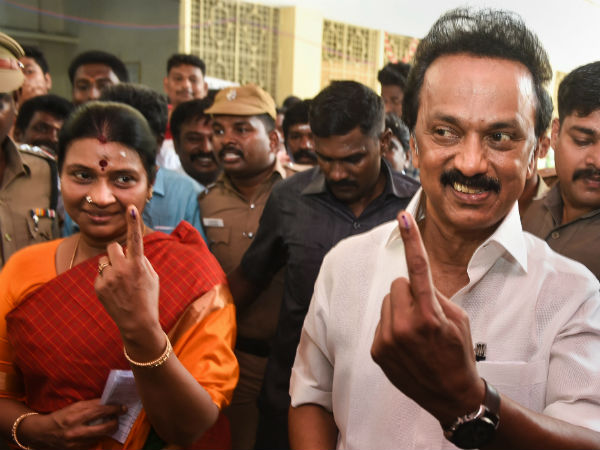 Lok Sabha Election 2019: M K Stalin cast his vote in Chennai Thenampet