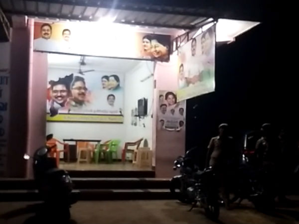 Firing in Andippatti, Deny permission to Police enter into ammk office