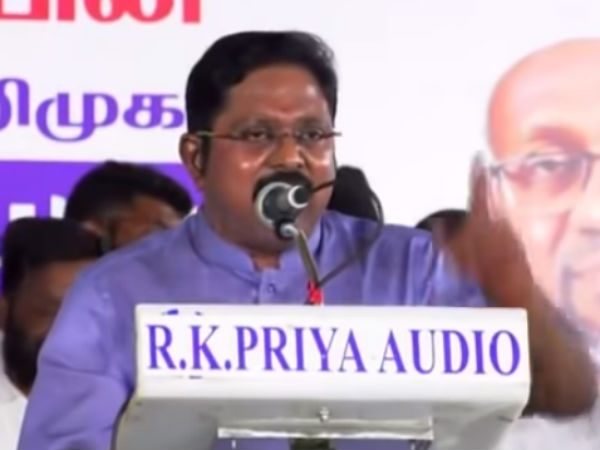 If AMMK win in the by-elections, will not support To Any Party Says TTV Dinakaran