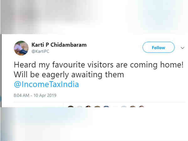 Karti Chidambaram hints Income Tax raids