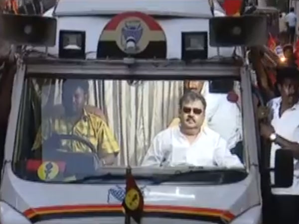 Vijayakant today starts his campaign