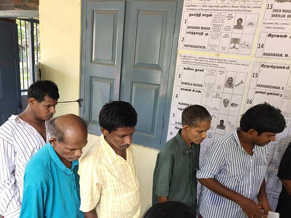 The 144 peoples casting vote For the first time In Kilpauk hospital