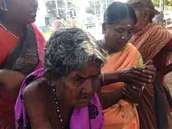 103 years old Thulasiammal cast her vote in Pappampatti