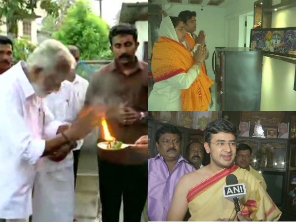 BJP Candidates offer prayers