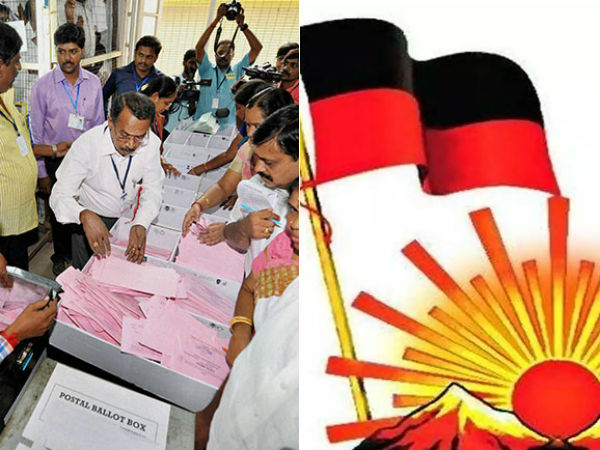 DMK Leading in the Postal Votes