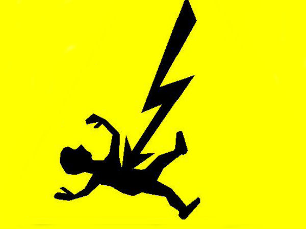 A man gets shock from electric wire when he tries to discard in Uthangarai