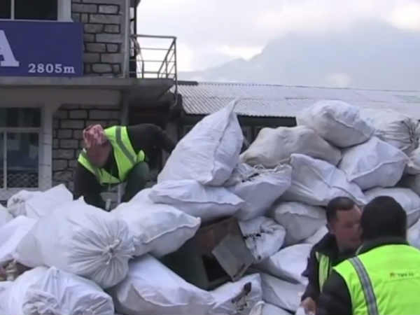 Nepal Governments clean Everest scheme ..Removable 5,000 kg of waste disposal