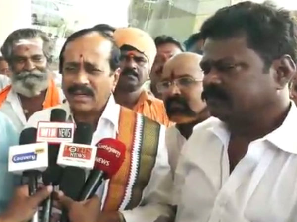 H Raja slams DMK and Dinakaran