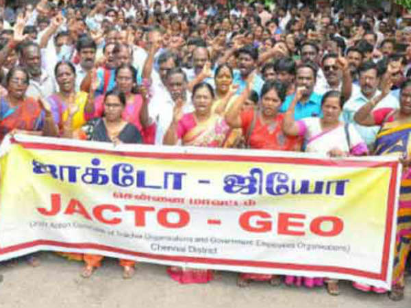Give back the hold salary during the strike.. Tamilnadu Teachers Alliance request