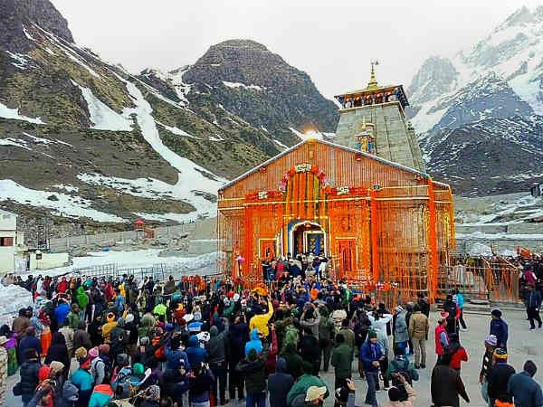 Snow retreated..world famous Kedarnath temple opened after 6 months