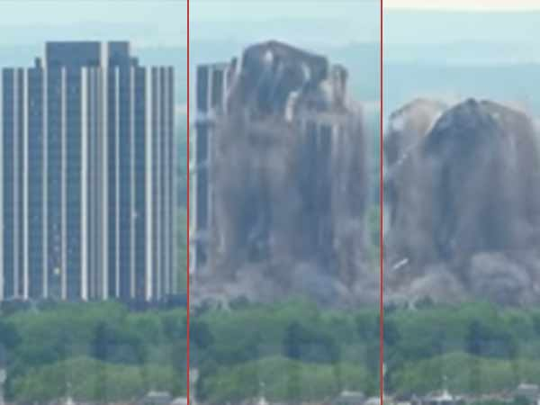 Martin tower was demolished within 16 seconds